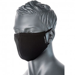 PW CV22 kétrétegű mosható antimikrobiális maszk fekete