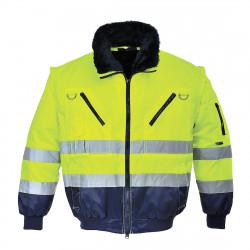 PJ50 Hi-Vis 3 az 1-ben Pilóta kabát Sárga/Kék L