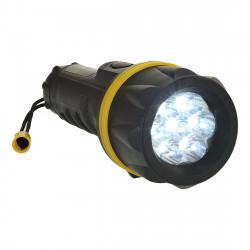 7 LED gumi zseblámpa Sárga/Fekete