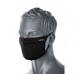 3 rétegű anti-mikrobiális arcmaszk (25db) Fekete