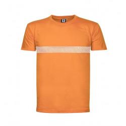 Narancssárga 100% pamut póló XL fényvisszaverő csíkkal