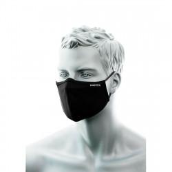 3 rétegű antimikrobiális arcmaszk orrnyereg borítással, fekete (25 db)
