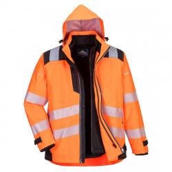 PW365 - PW3 Hi-Vis 3-in-1 kabát narancs/fekete S